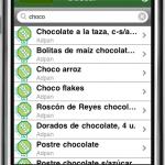 Lista de alimentos en el iPhone